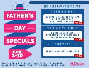 Victoria Beauty Alphabet Fathers Day Specials
