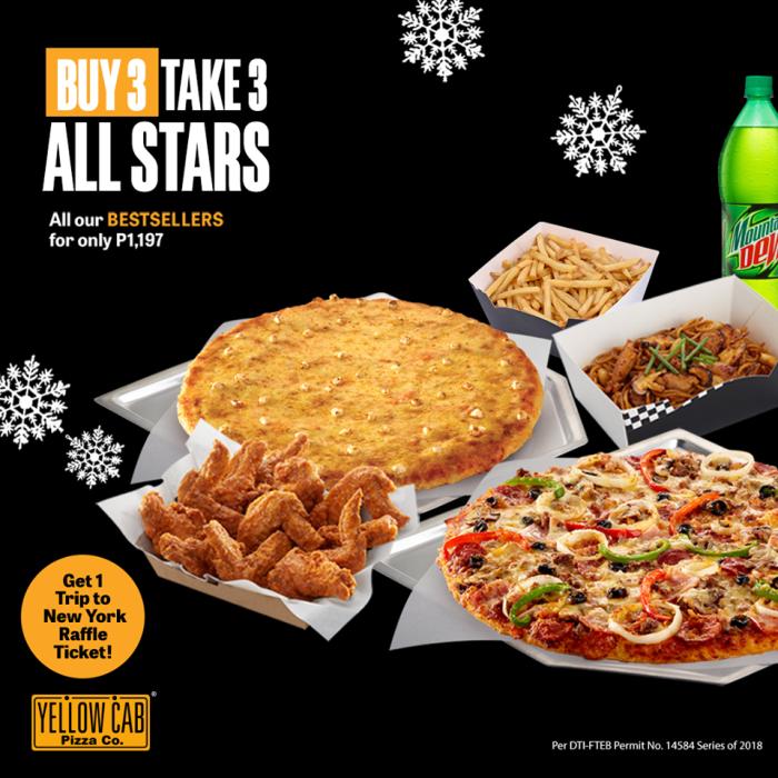 Yellow Cab Buy 3 Take 3 All Stars Dec2018