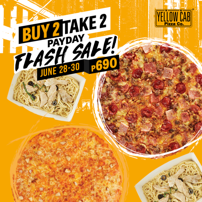 yellow cab june 28 to 30 payday weekend flash sale