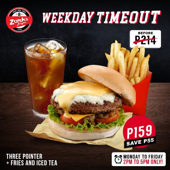 Zarks 3 Pointer Plus Fries And Iced Tea