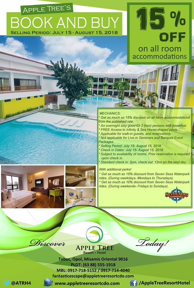 Apple Tree Resort and Hotel Book and Buy Promo