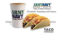 Army Navy Taco Tuesday FI with slogan