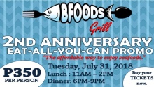 bfoods grill 2nd anniversary promo FI