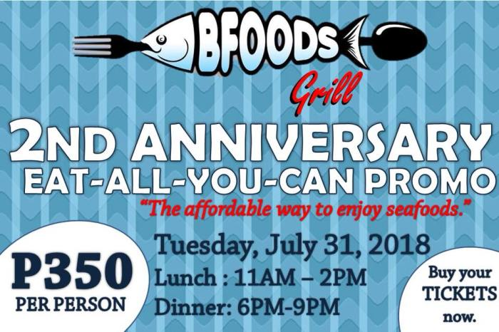 bfoods grill 2nd anniversary promo