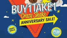 Buy 1 Take 1 Crazy Shake The Backyard Grill 4th Anniversary Sale FI
