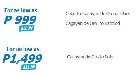Cebu Pac Seat Sale CDO Flights