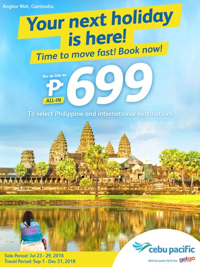 Cebu Pacific Seat Sale July 23 - 29