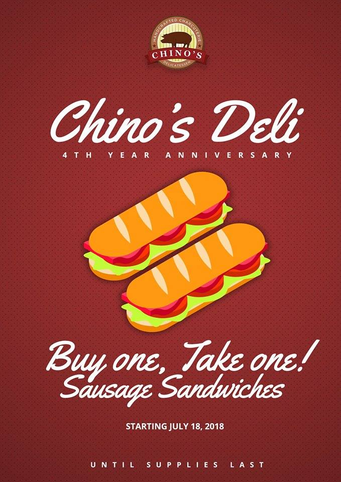 Chinos Deli 4th Year Anniversary Promo