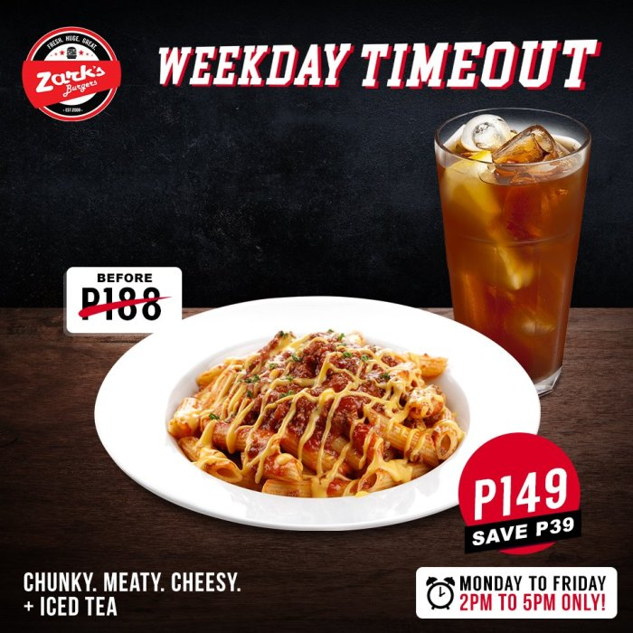 Zark's Chunky Meaty Cheesy Plus Iced Tea