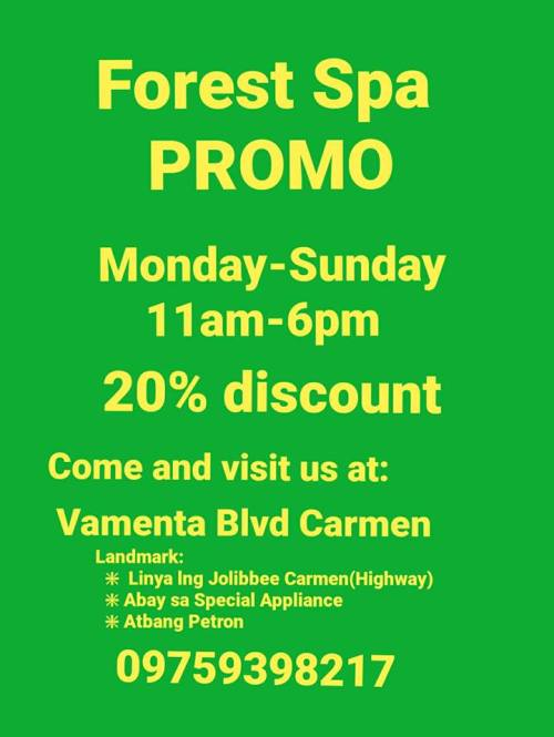 Forest Spa Daily Promo