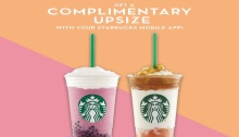 Get a Complimentary Upsize with your Starbucks Mobile App FI