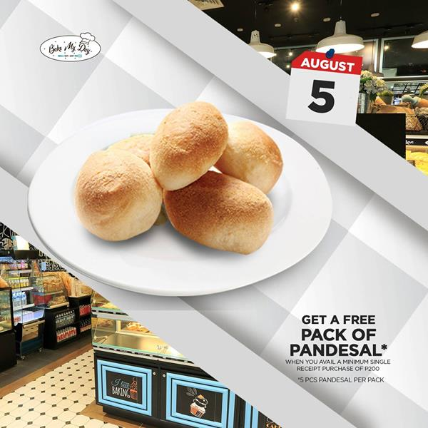 get a free pack of pandesal aug5