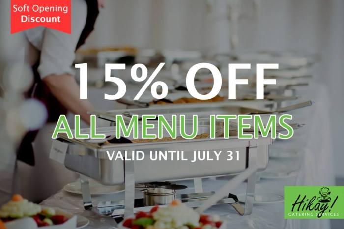 Hikay Catering Services Soft Opening Discount