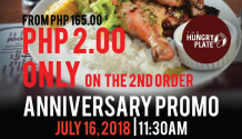 Hungry Plate Anniversary Promo FI