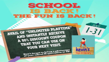 Kevin's Toys and Library 50percent discount FI