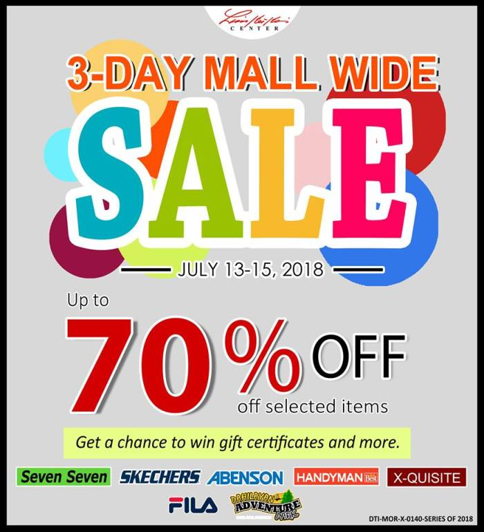 limketkai 3-day mall wide sale