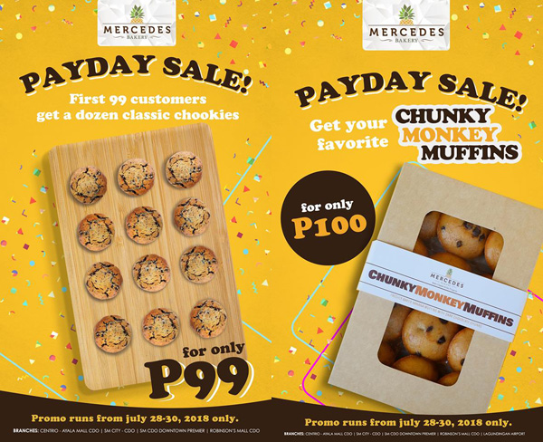 Mercedes Bakery Payday Sale promos