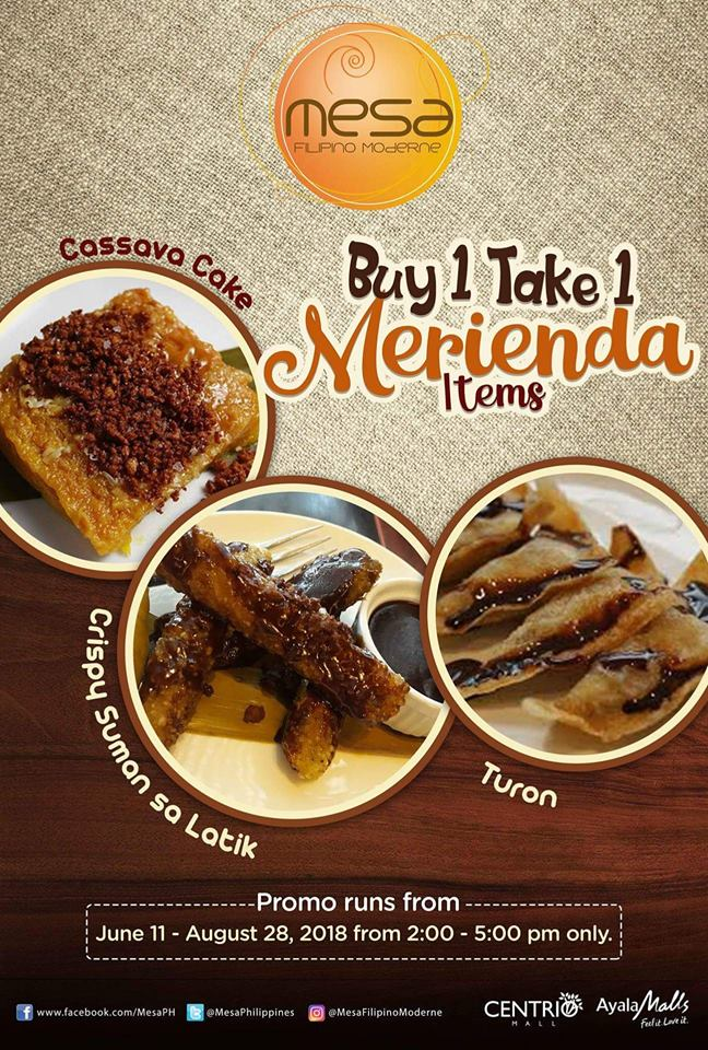 Mesa Buy 1 Take 1 Merienda Items