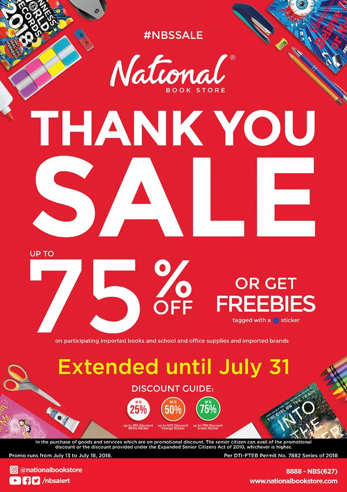 National Book Store Thank You Sale Ext