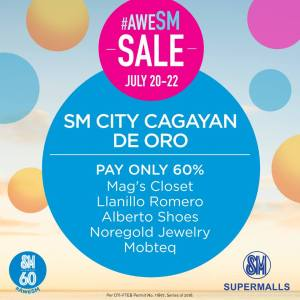 SM City AweSM pay 60percent