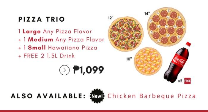 pizza trio pizzarella