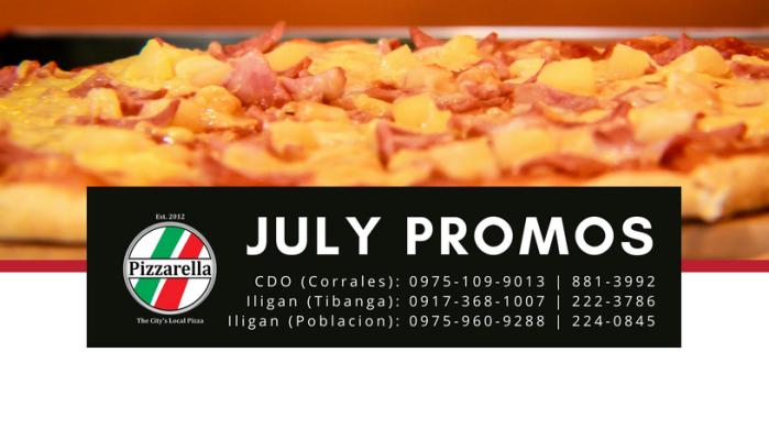 Pizzarella July Promos cover