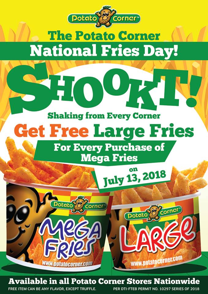 Potato Corner National Fries Day