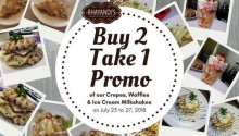 Rhayandis House of Crepe and Waffle Buy 2 Take 1 Promo FI