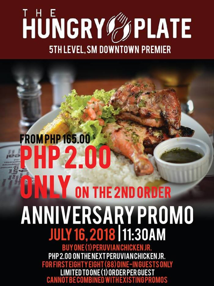The Hungry Plate Anniversary Promo