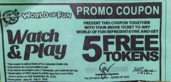 watch and play WOF and Limketkai Cinema Promo
