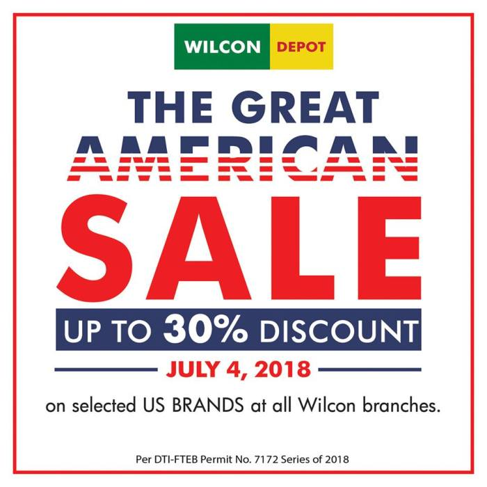 Wilcon Depot The Great American Sale