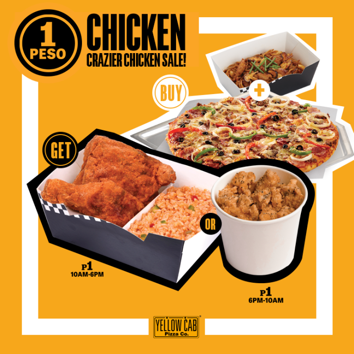 Yellow Cab Crazy Chicken Sale Extended
