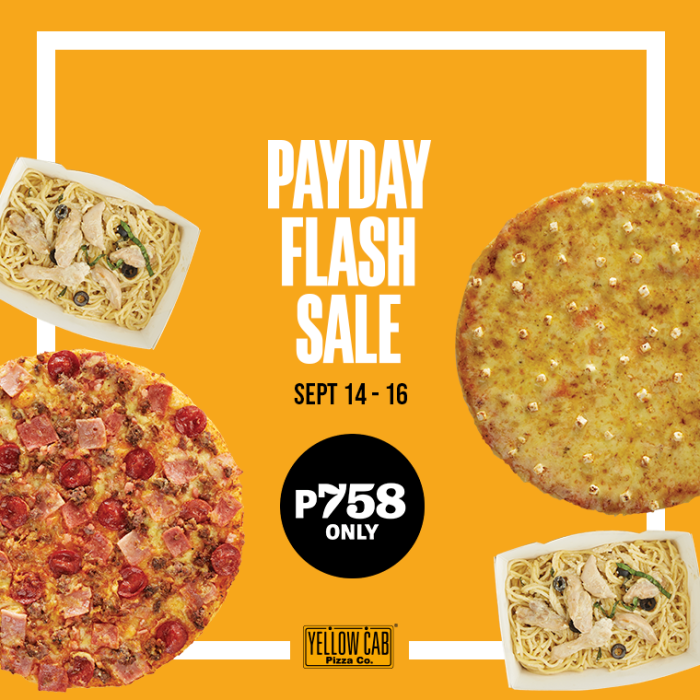 Yellow Cab payday flash sale Sep14-16