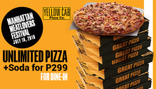 Yellow Cab Unli Pizza And 2 for 999 FI