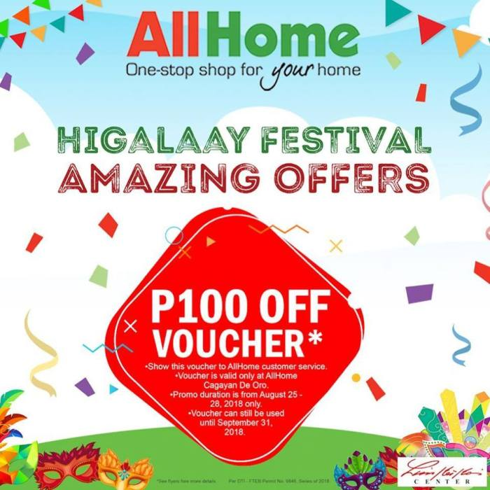 All Home Higalaay Festival Sale Voucher