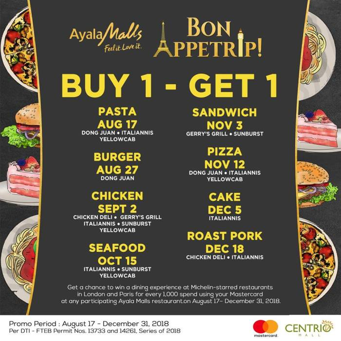 Buy 1 Get 1 on Dishes and Win a Trip to London and Paris main