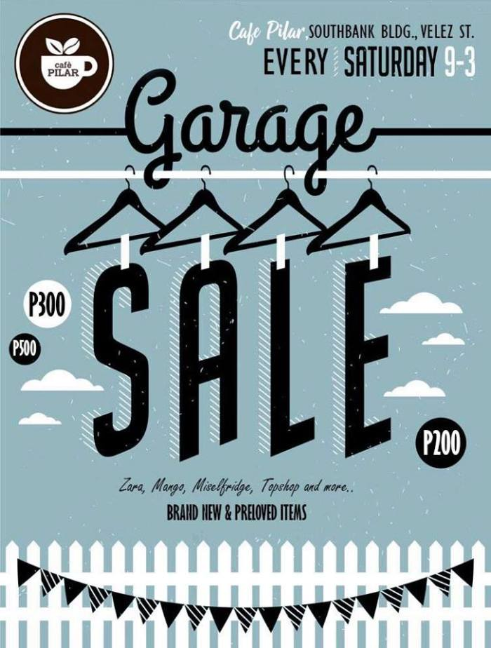 Cafe Pilar Garage Sale and FREE Iced Coffee