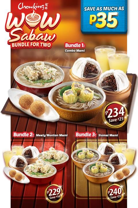 Chowking Wow Sabaw Bundle for Two