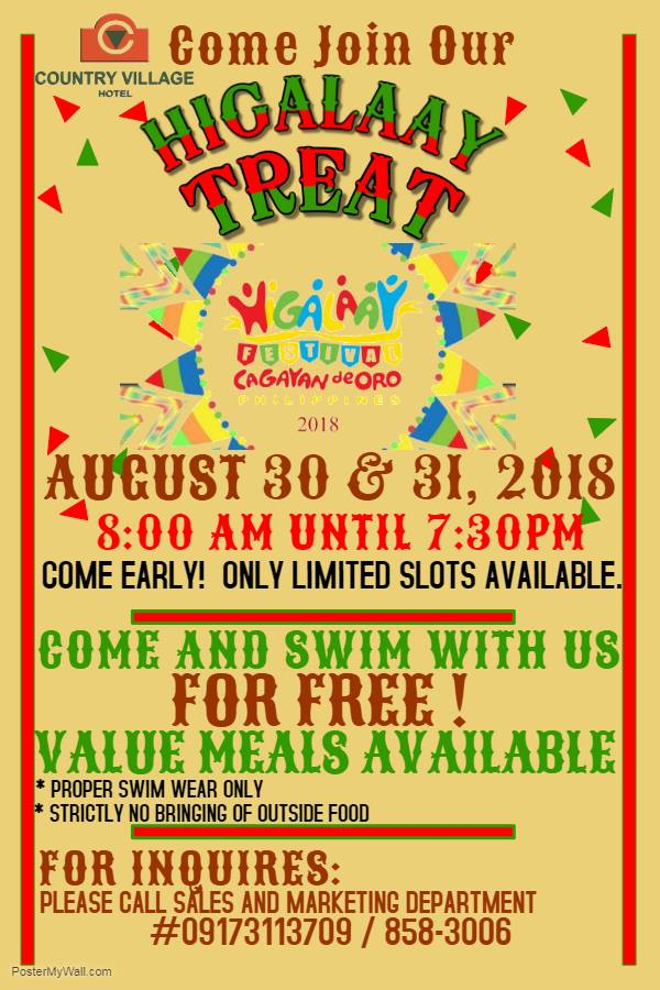 Country Village Hotel Higalaay Fiesta Treat