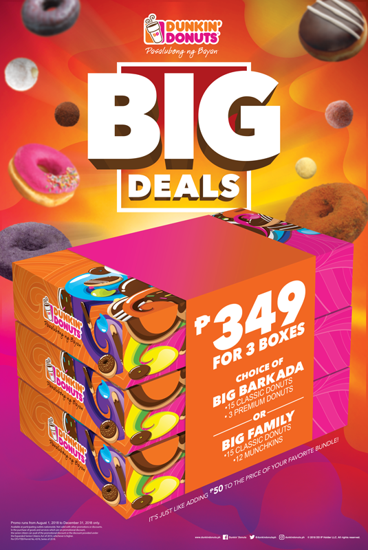 Dunkin Donuts Big Deal Barkada Bundle
