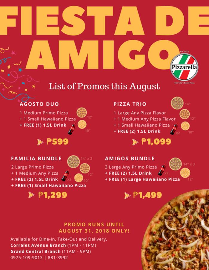 Fiesta de Amigo at Pizzarella Promo