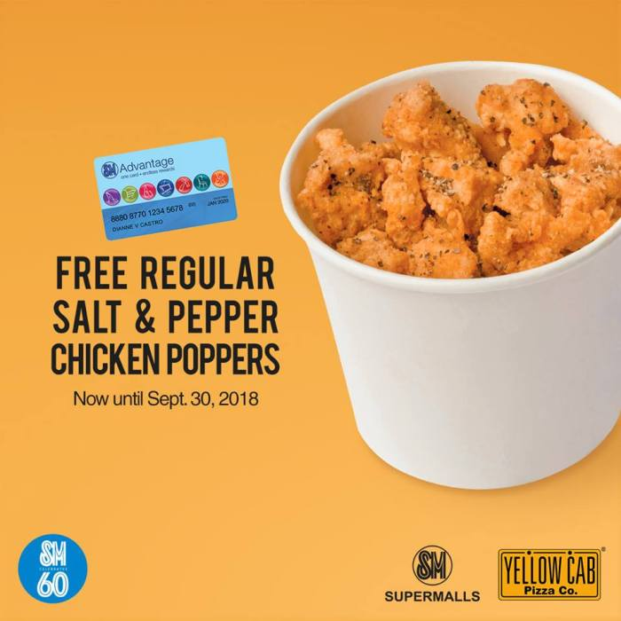 FREE regular Salt and Pepper Chicken Poppers