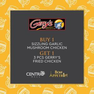 Gerry's Restaurant and Bar Buy 1 Take 1 on Chicken
