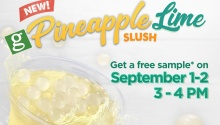 Greenwich FREE sample of Pineapple Lime Slush FI