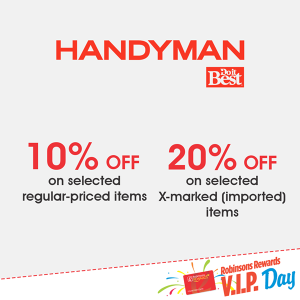 handyman Robinson's VIP Day