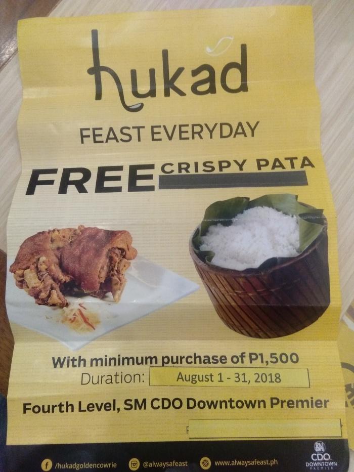 Hukad Free Crispy Pata