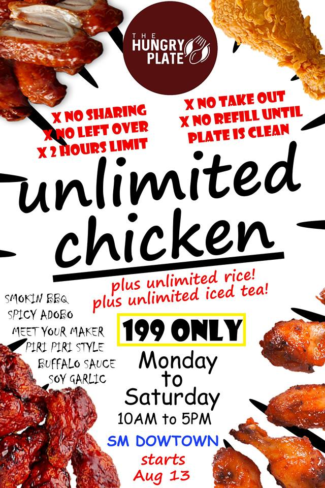 Hungry Plate SM Downtown Premier Unlimited Chicken