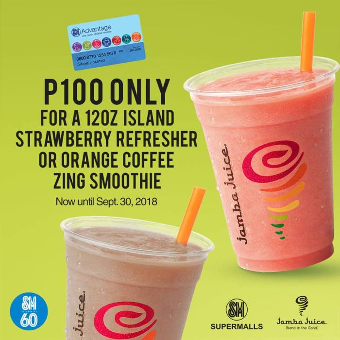 jamba Juice Gastronomic Feast at SM Malls