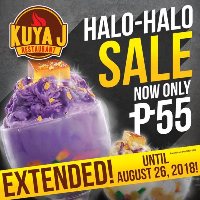 Kuya J Restaurant Halo-Halo Sale extended