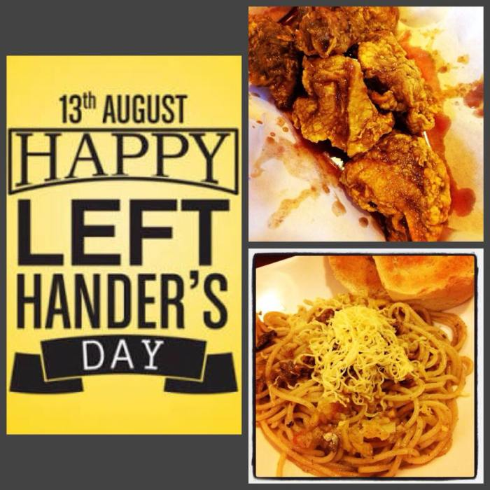 Leftys Chick-N-Chops Left Handers Day